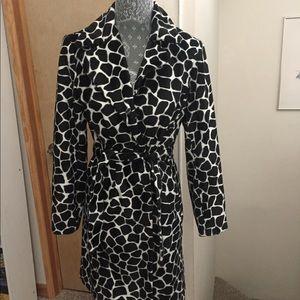 Chic animal-print coat by bebe
